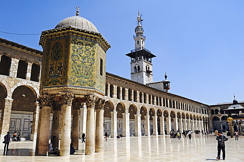 Treasure house of the Ottomans in the courtyard of the Umayyad-Mosque in Damascus, Syria, Middle East, Asia