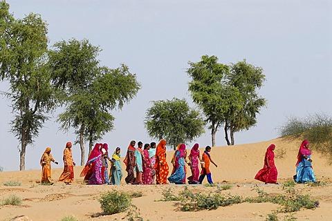 Ram Devra pilgrims, Ramdevra, Thar desert, in Pokaran, Pokhran, Rajasthan, India, Asia