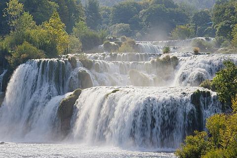 Waterfalls in Krka National Park, Skradin, Sibenik-Knin, Dalmatia, Croatia, Europe