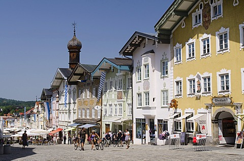 Historic town centre of Bad Toelz, Upper Bavaria, Bavaria, Germany, Europe