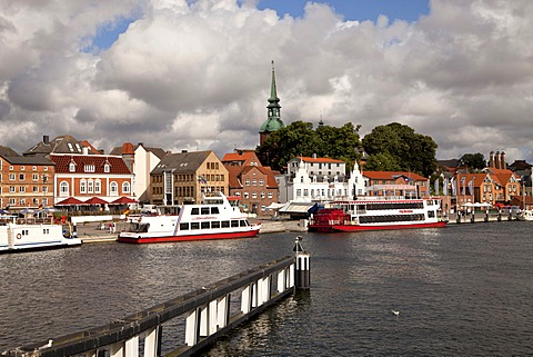 Cityscape of Kappeln and the Schlei River in Schleswig-Holstein, Germany, Europe