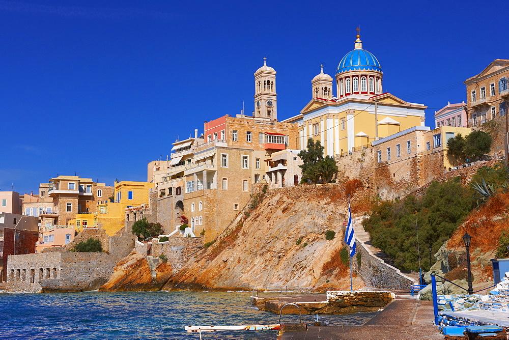 The neo-classic Greek Orthodox church of Saint Nicholas, Ermoupolis, Syros, Cyclades Islands, Greece, Europe