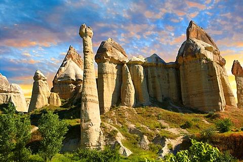 Fairy chimneys, Love Valley, Cappadocia, Turkey