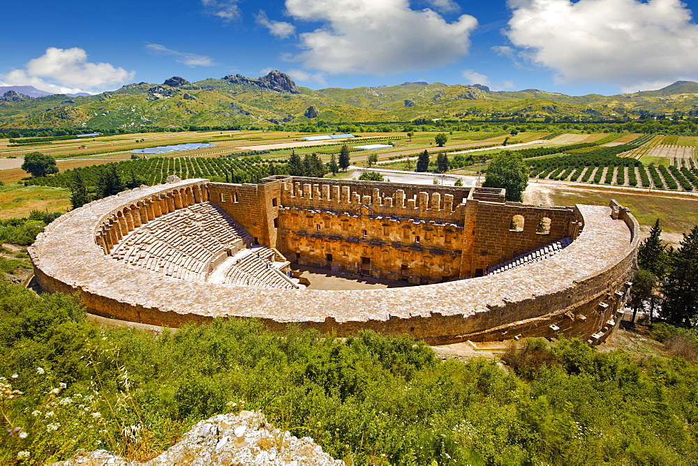 The Roman Theatre of Aspendos, built in 155 AD, Turkey, Asia Minor - 832-372713