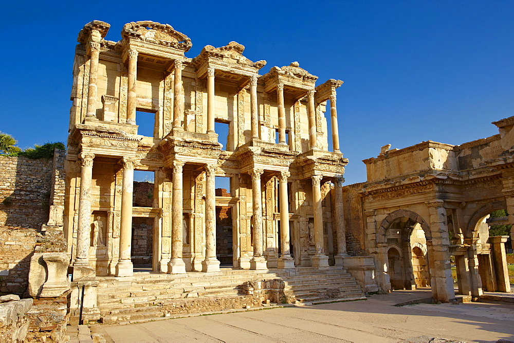 The Library of Celsus, Roman ruins of Ephesus, Turkey