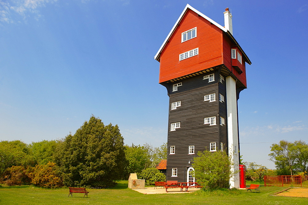 House in the clouds, eccentric tourist house, Thorpness, Suffolk, England, United Kingdom, Europe