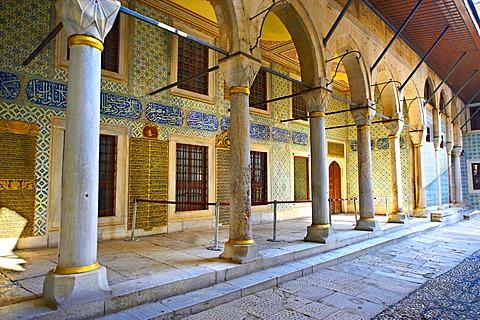 Courtyard of the Eunuchs in the Harem, Topkapi Palace, Istanbul, Turkey