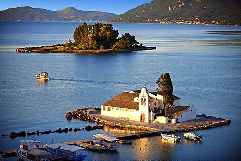Greek Orthodox Convent of Vlachernas, Kanoni, Peninsula, Corfu, Ionian Islands, Greece, Europe