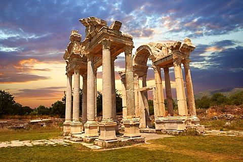 The double Tetrapylon Gate, Aphrodisias, Turkey
