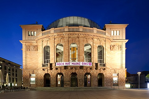 Former Grand Ducal National Theatre, Staatstheater, State Theatre, Mainz, Rhineland-Palatinate, Germany, Europe, PublicGround