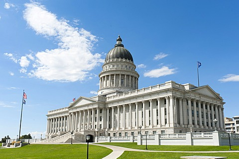 Capitol, Supreme Court and Parliament, Capitol Hill, Salt Lake City, Utah, Western United States, USA, United States of America, North America