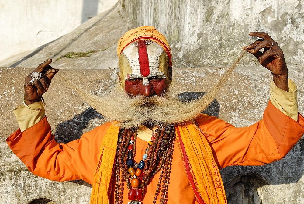 Sadhu, holy man, Pashupatinath, Kathmandu, Nepal