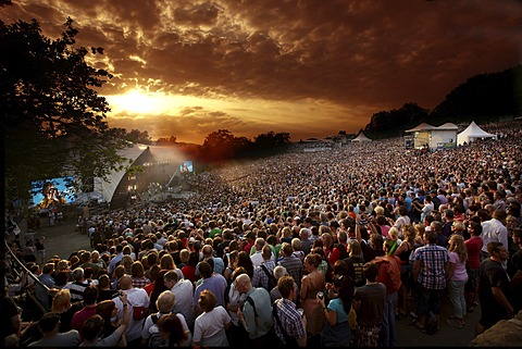 Loreley open-air stage, St. Goarshausen, Rhineland-Palatinate, Germany, Europe - 832-374368