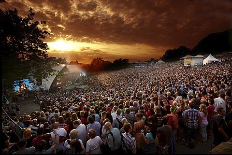 Loreley open-air stage, St. Goarshausen, Rhineland-Palatinate, Germany, Europe