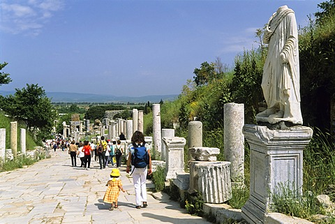 Curetes Street, ancient city of Ephesus, Turkey, Europe, Asia