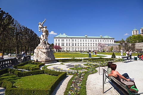 Mirabell Gardens and Mirabell Palace, Salzburg, Salzburger Land, Austria, Europe
