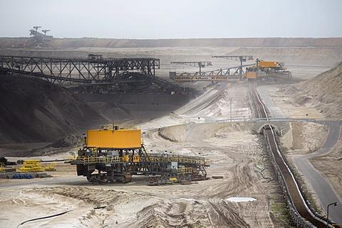 Lignite mining, Welzow-Süd open pit, Welzow, Brandenburg, Germany, Europe