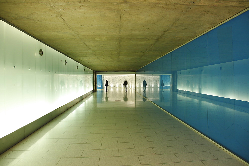 People walking in a pedestrian tunnel, Underground City walkway system, Underground City, Montréal, Quebec Province, Canada, North America