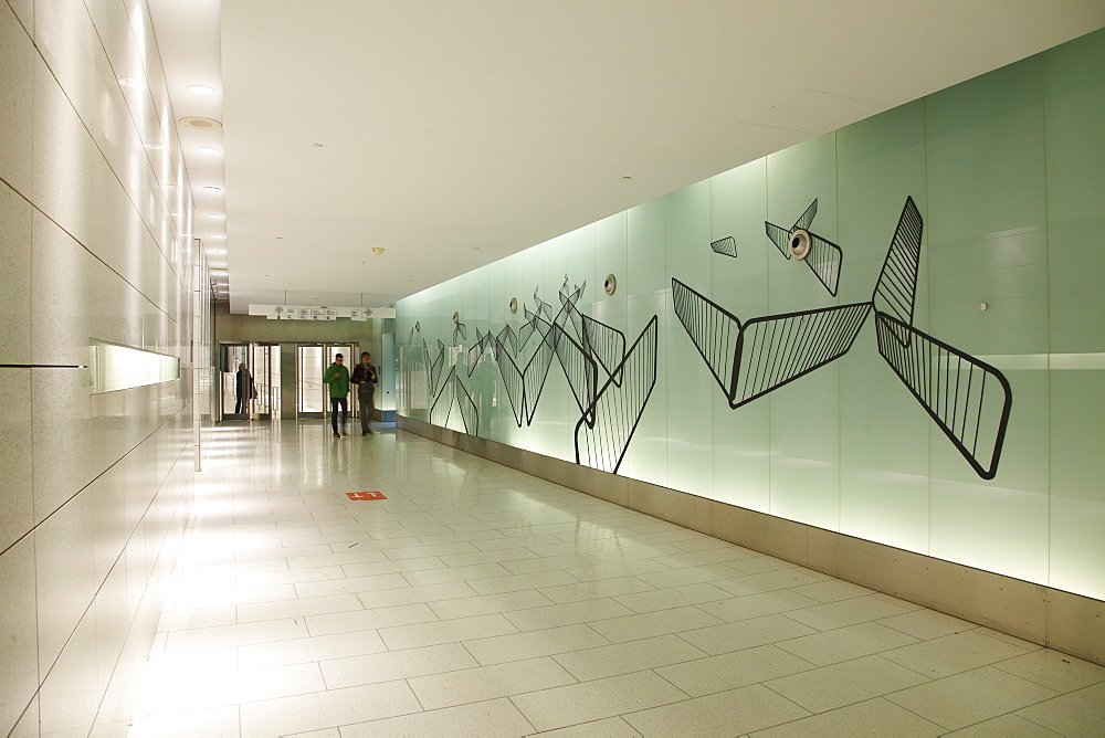 Artwork in the Underground City walkway system, Underground City, Montréal, Quebec Province, Canada, North America