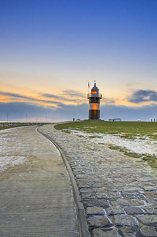 Kleiner Preusse lighthouse, Wremen, Lower Saxony, Germany, Europe