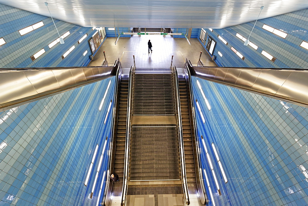 Uberseequartier U-Bahn station, Hamburg, Germany, Europe
