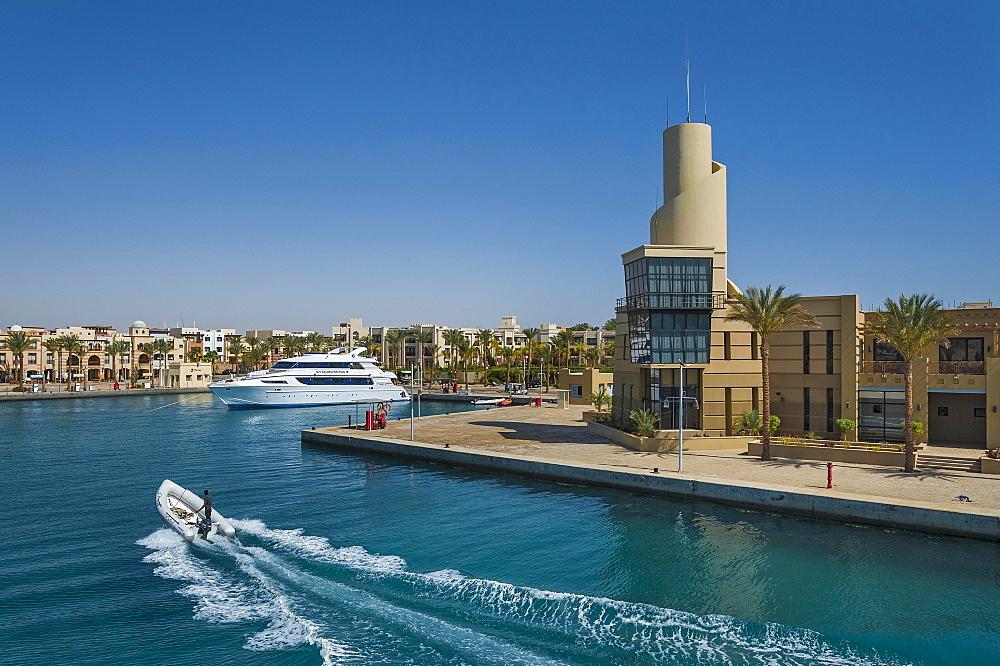 Harbour facility, Port Ghalib, Marsa Alam, Red Sea, Egypt,, Africa