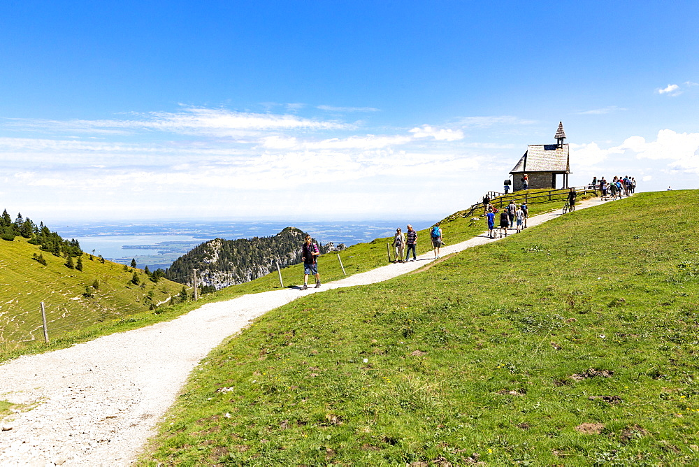 Steinling Chapel at Steinlingalm, Chiemsee, Aschau, Bavaria, Germany, Europe