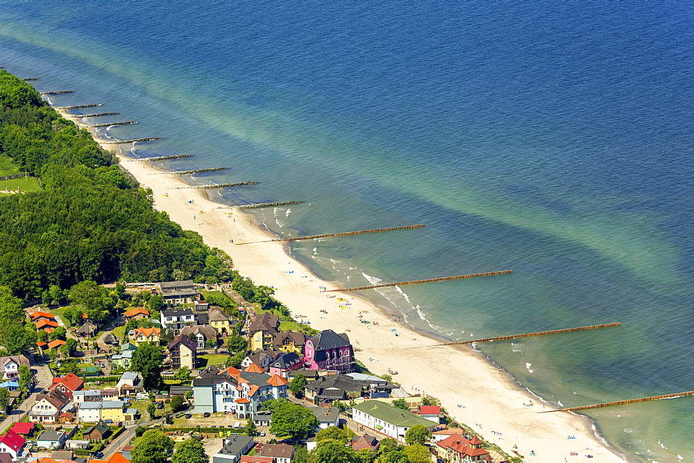 Seaside resort Niechorze, long sandy beach, The Baltic Coast, West Pomerania Province, Poland, Europe