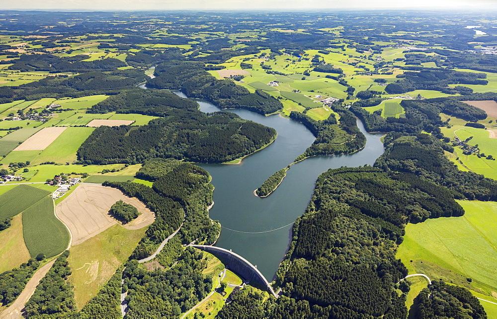 Ennepetal Dam Radevormwald, River Ennepe, Bergisches Land, Fieldscape, Ennepetal, Ruhrgebiet, North Rhine-Westphalia, Germany, Europe