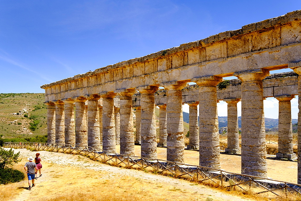 Greek temple complex Segesta, province of Trapani, Sicily, Italy, Europe