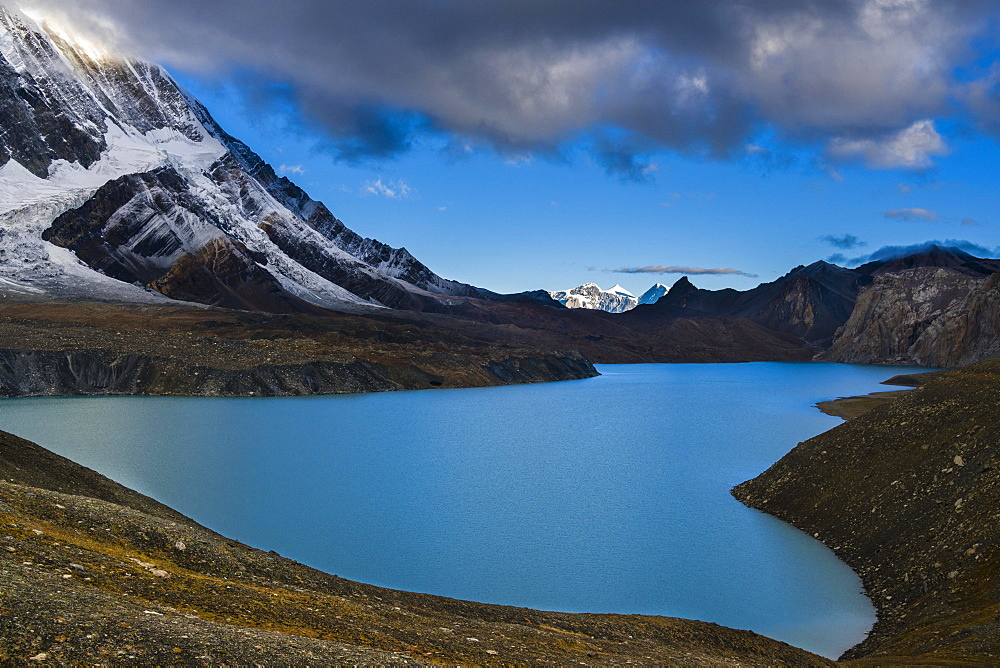 Tilicho Lake in the mountains, Manang, Manang District, Nepal, Asia