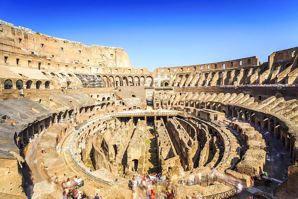 Colosseum amphitheater, Rome, Lazio, Italy, Europe
