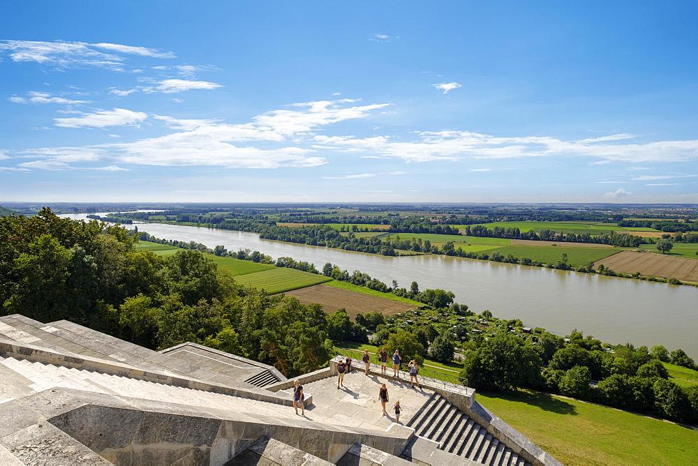Danube, view from Walhalla, Donaustauf, Upper Palatinate, Bavaria, Germany, Europe