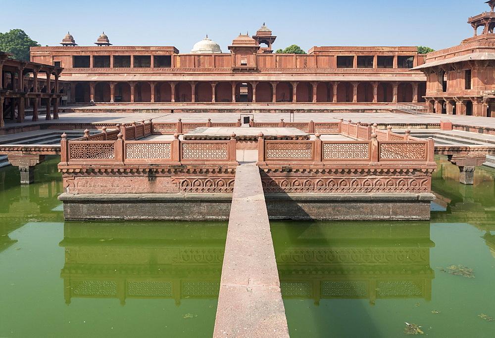 Anup Talao Pool, Fatehpur Sikri, India, Asia