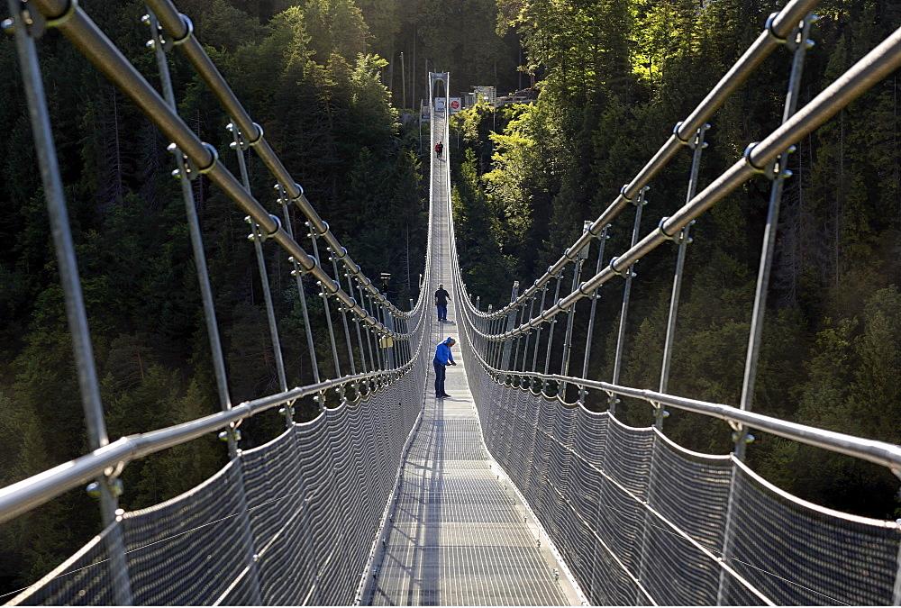 Suspension bridge Highline 179, near Reutte, Tyrol, Austria, Europe