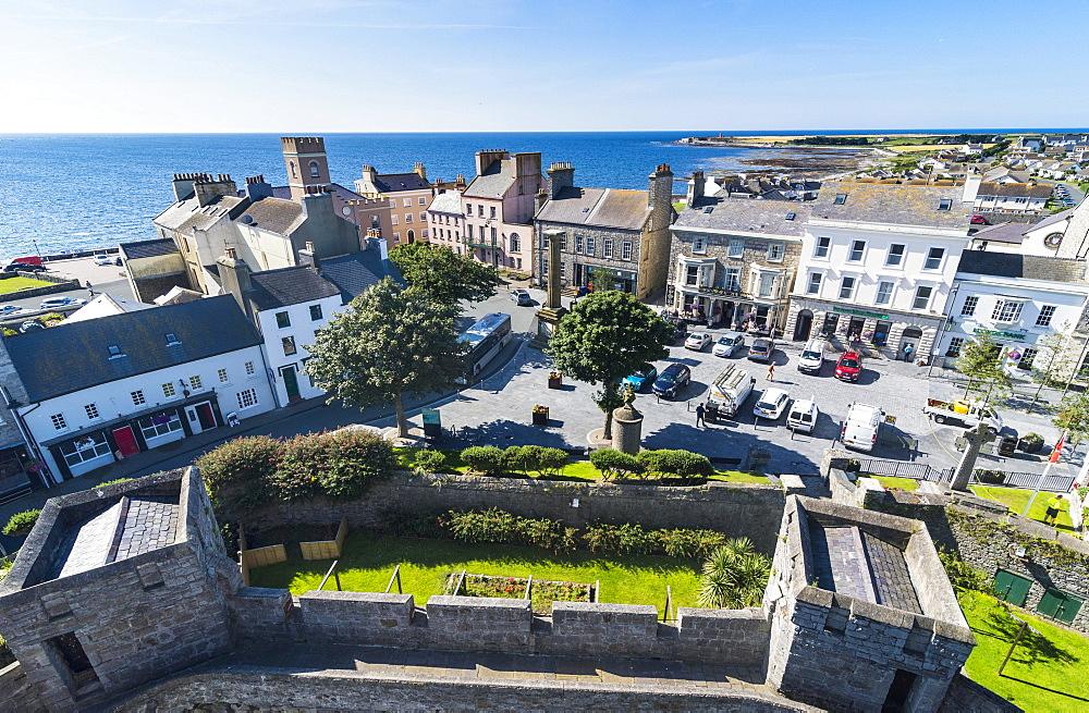 Overlook over Castletown, Isle of Man, United Kingdom, Europe