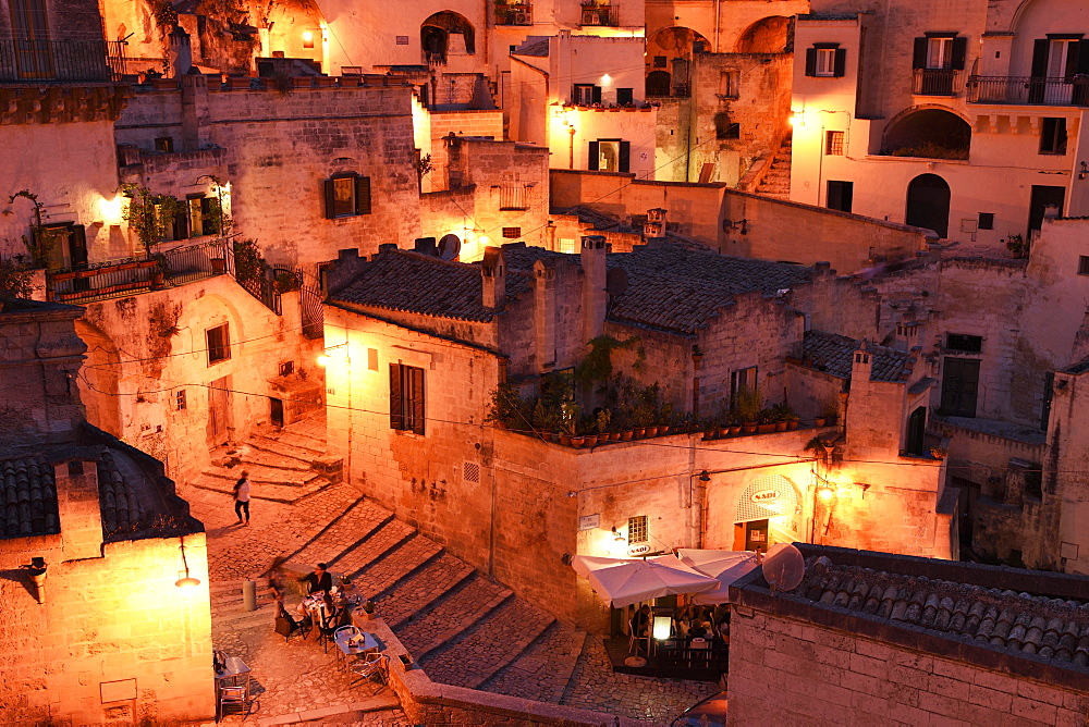 Medieval Old Town, Sassi di Matera, UNESCO Cultural Capital 2019, Matera, Province of Basilicata, Italy, Europe