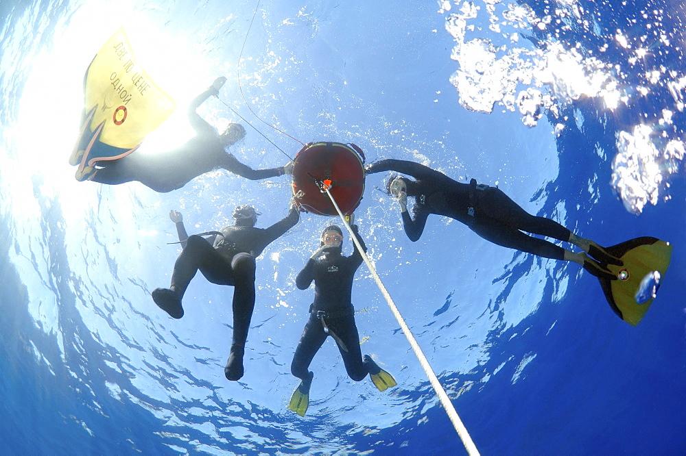 Freedivers, Aegean Sea, Greece, Europe