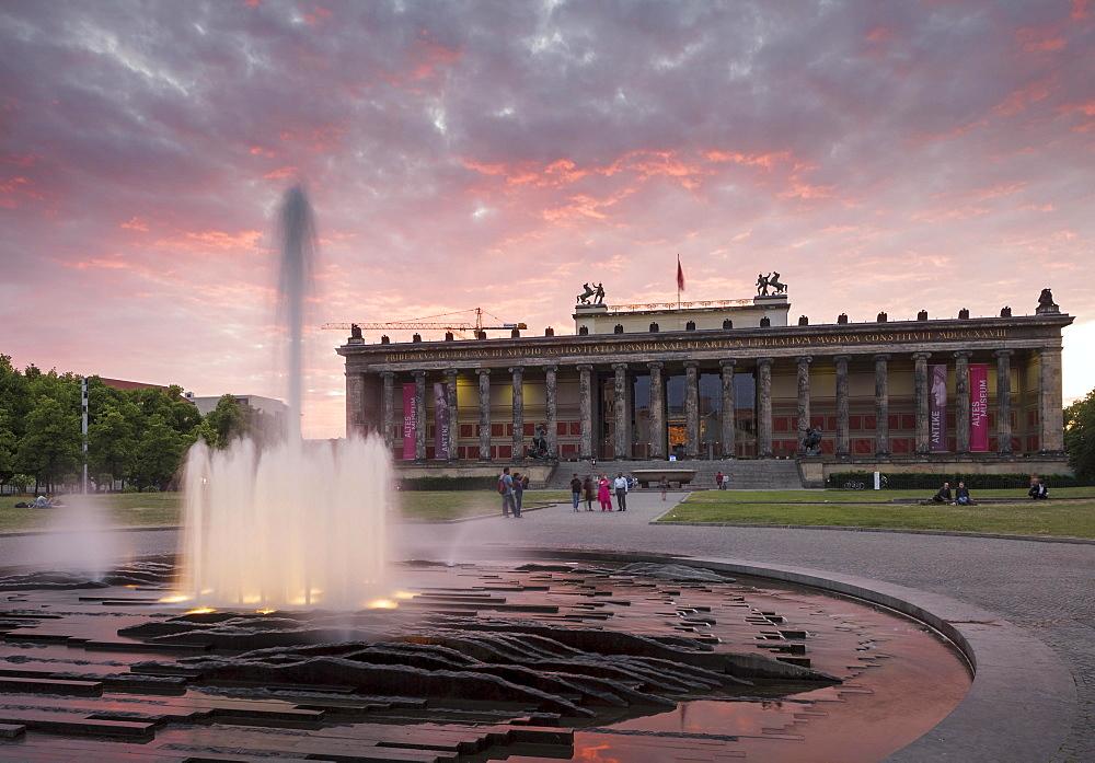 Altes Museum and Lustgarten, Berlin, Germany, Europe