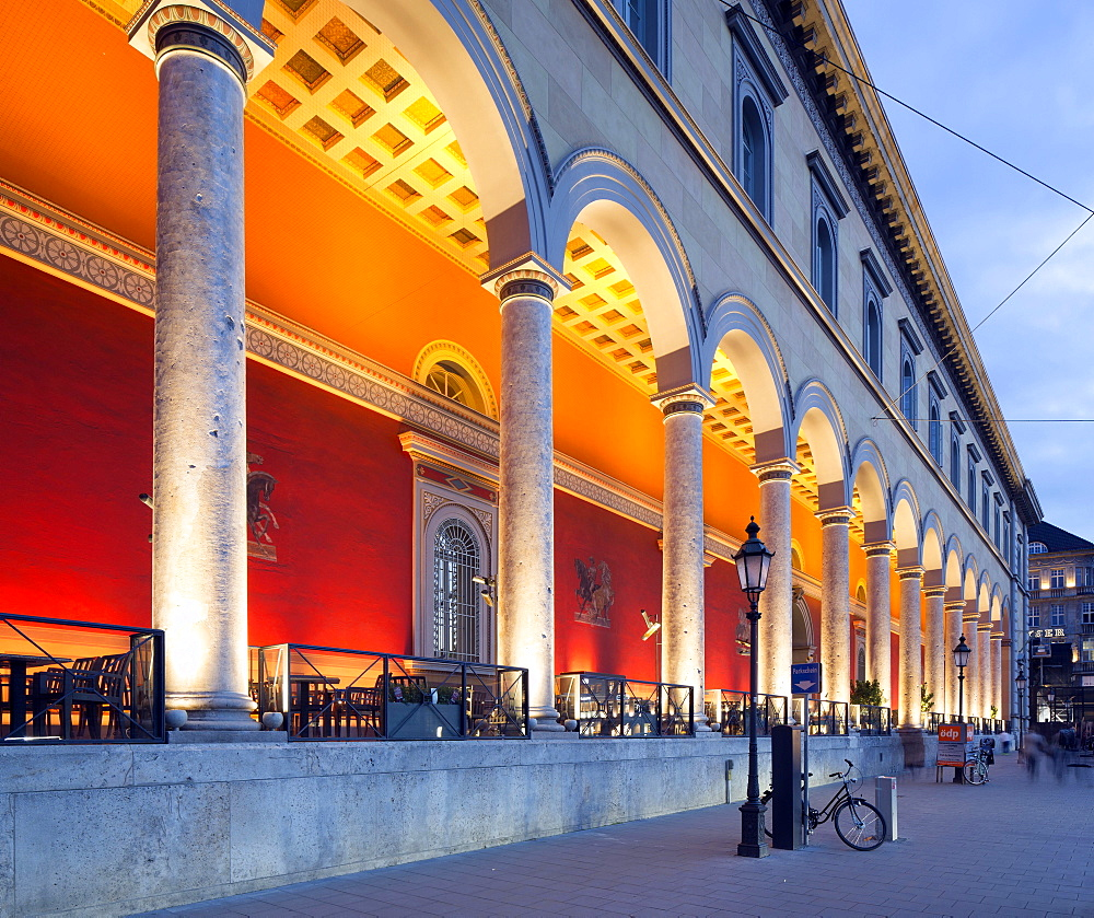 Exclusive office and residential building Palais at the Opera House with portico, former Palais Törring-Jettenbach, 1754, Max-Joseph-Platz, Munich, Upper Bavaria, Bavaria, Germany, Europe