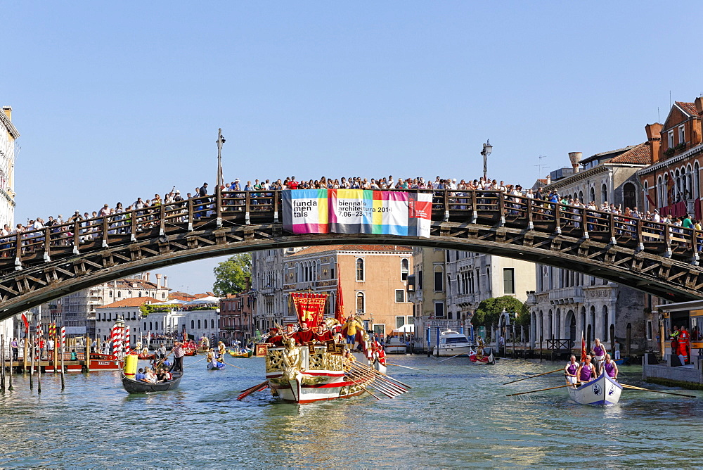 Regata Storica, historical regatta, on the Canal Grande, Venice, Veneto, Italy, Europe