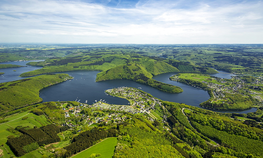 Rur Reservoir, Rur Dam, Simmerath, Eifel, North Rhine-Westphalia, Germany, Europe