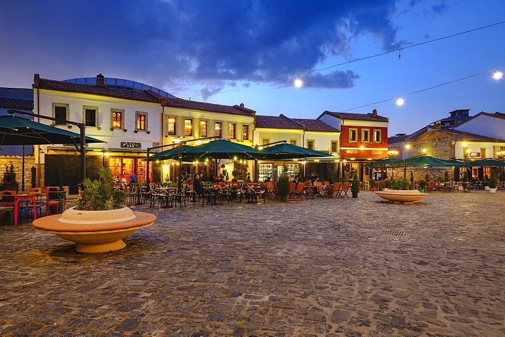 Old bazaar, Pazari i Vjetër, historic bazaar district, Korca, Korça, Albania, Europe