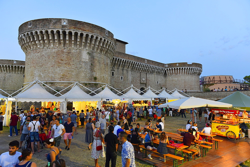 Visitors, Summer Jamboree, Rock'n'Roll Festival, Rocca Roveresca Castle, Senigallia, Province of Ancona, Marche, Italy, Europe