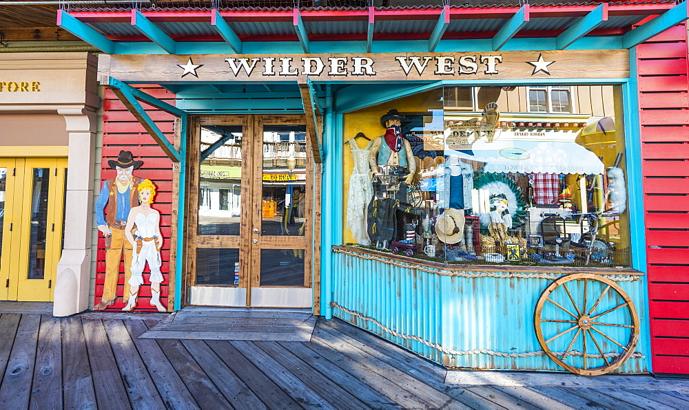 Wilder West, booth on Pier 39, port, San Francisco, California, USA, North America