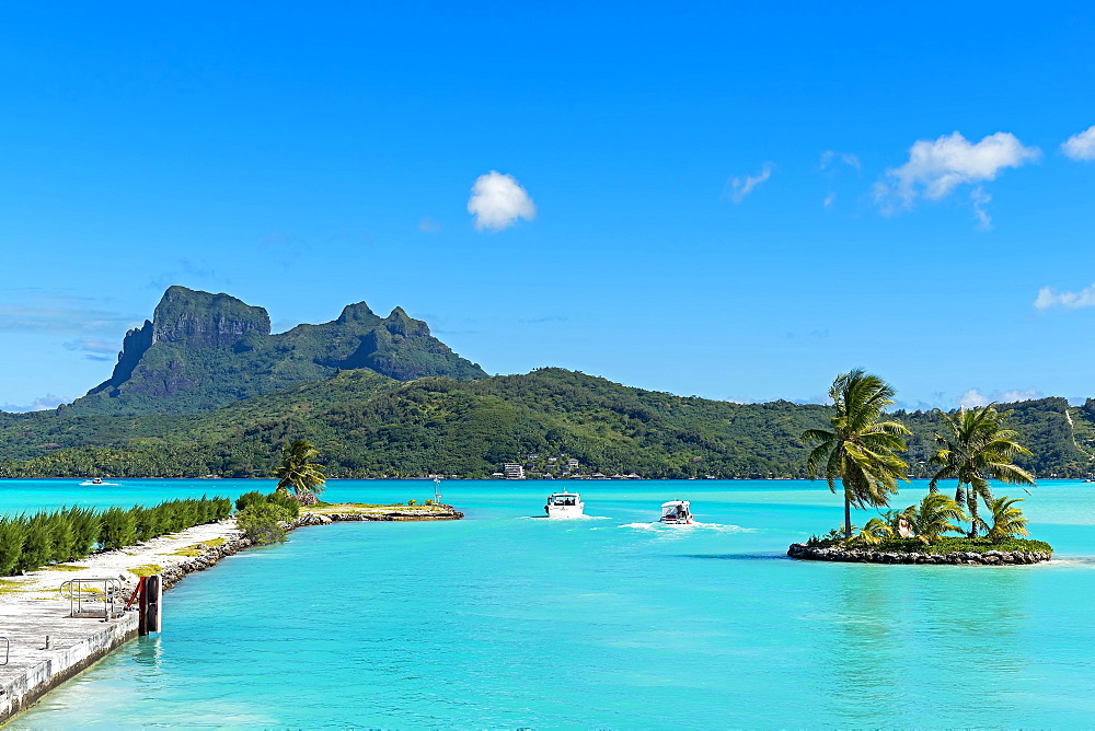 View of the Mount Otemanu volcano, Bora Bora, French Polynesia, Oceania