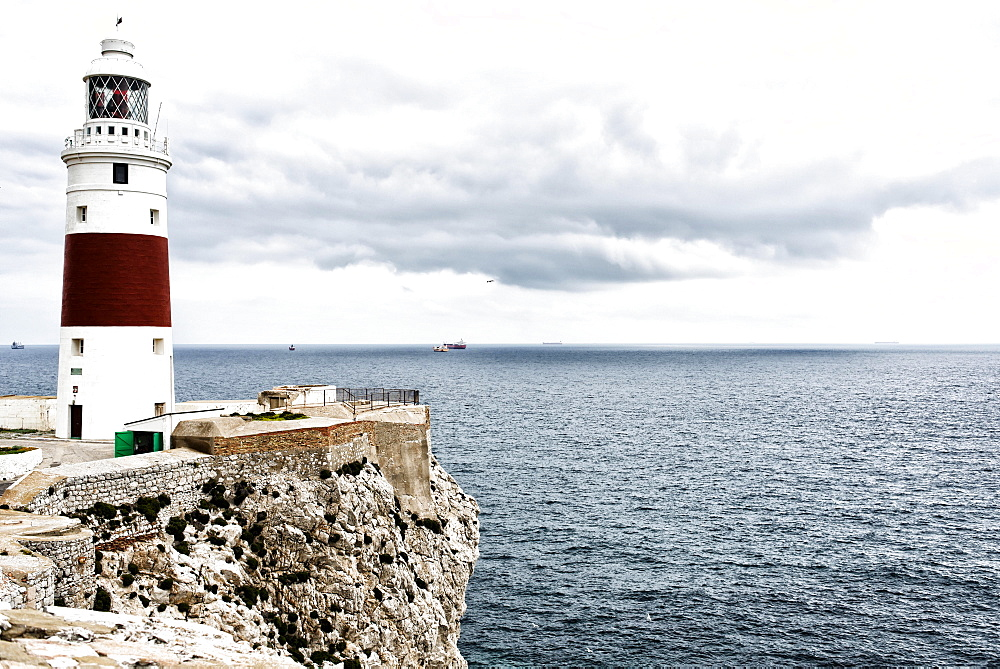 Europa Point with lighthouse, Gibraltar, United Kingdom, Europe