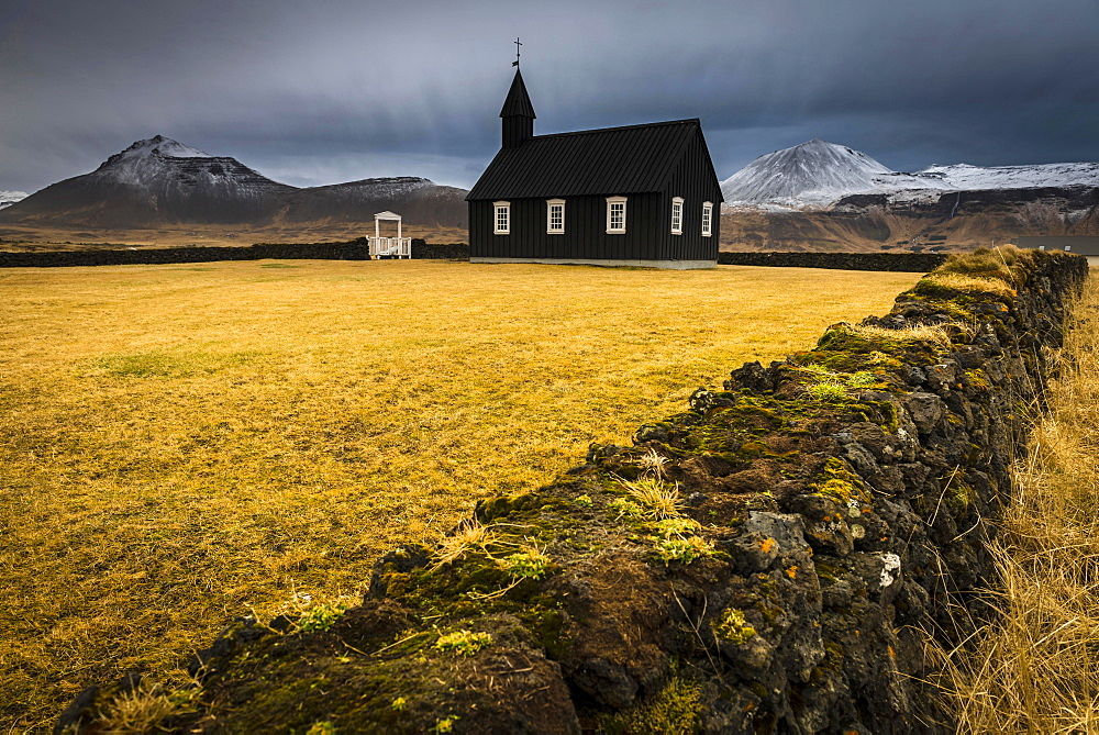 Budir Kirka, church, Snaefellnes, West Iceland, Iceland, Europe