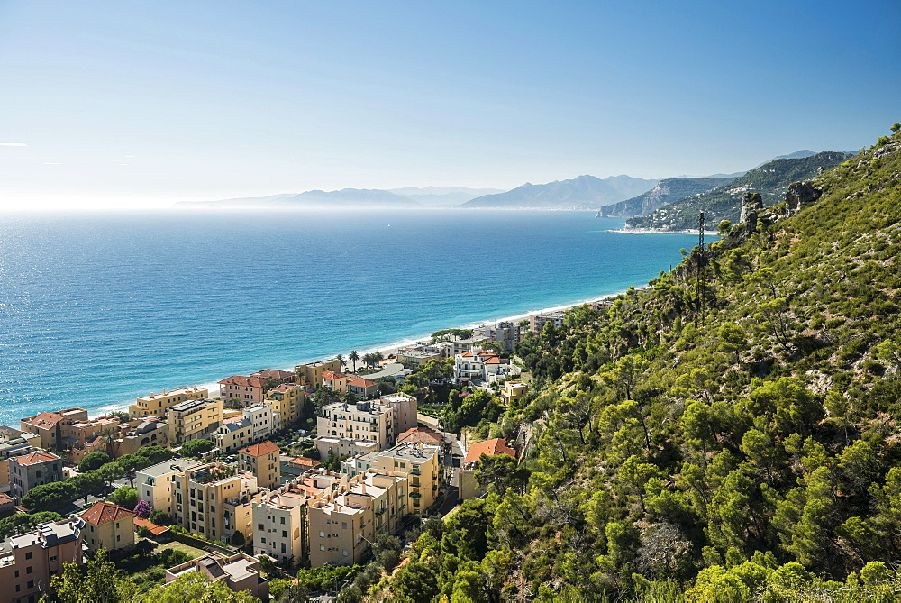 The village of Varigotti on the coast, Finale Ligure, Liguria, Italy, Europe