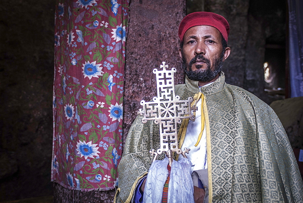 Priest, Coptic Church, Lalibela, Ethiopia, Africa